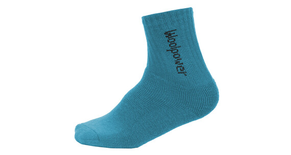 Woolpower 400 Logo Socks Kids dolphin blue